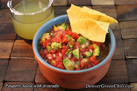 Paupers Salsa with Avocado