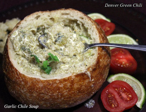 Garlic Green Chile Soup