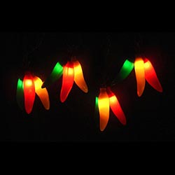 Chili Pepper Lights - clusters of 3