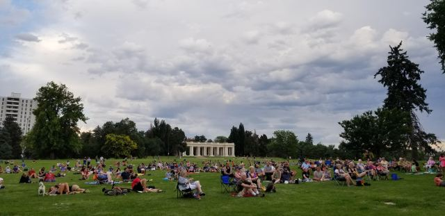 cheesman park denver municipal band in 2021