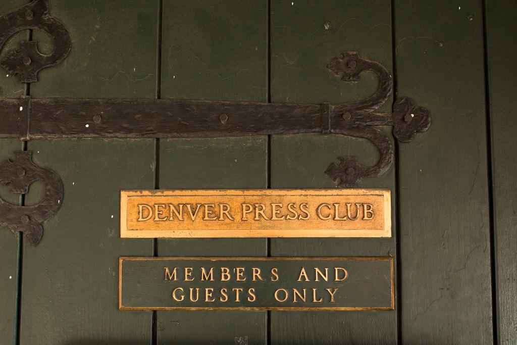 The Denver Press Club door