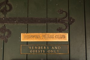 The Denver Press Club door