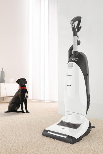 Miele Dynamic U1 Cat and Dog Upright Vacuum with dog