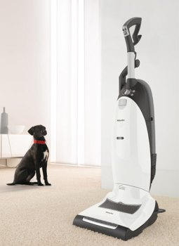 Miele Dynamic U1 Cat and Dog Upright Vacuum with dog