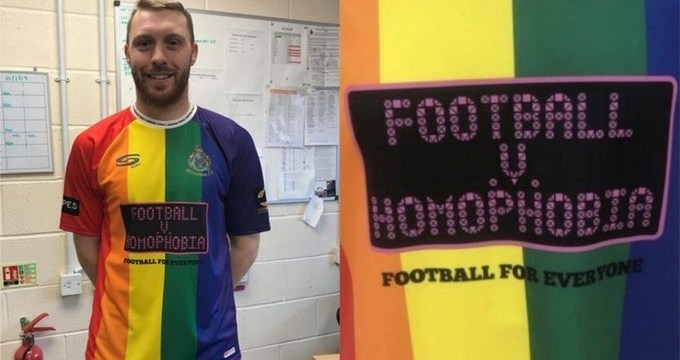 Este equipo de futbol jugará con uniforme del arcoíris contra la homofobia
