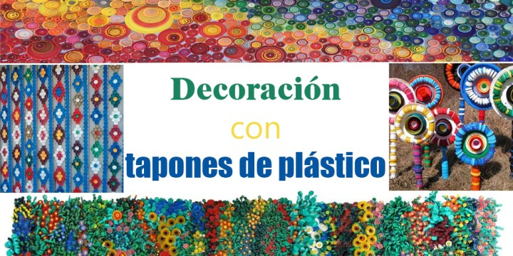 12 ideas de decoración con tapitas de plástico
