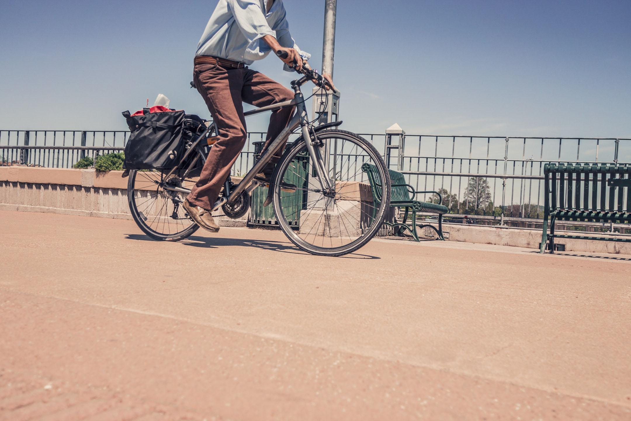 Défi j'y vais à vélo (photo libre de droit)