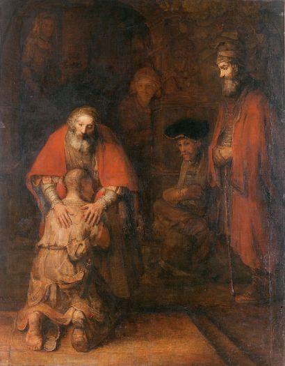 Le Retour du fils prodigue, Rembrandt, 1668.