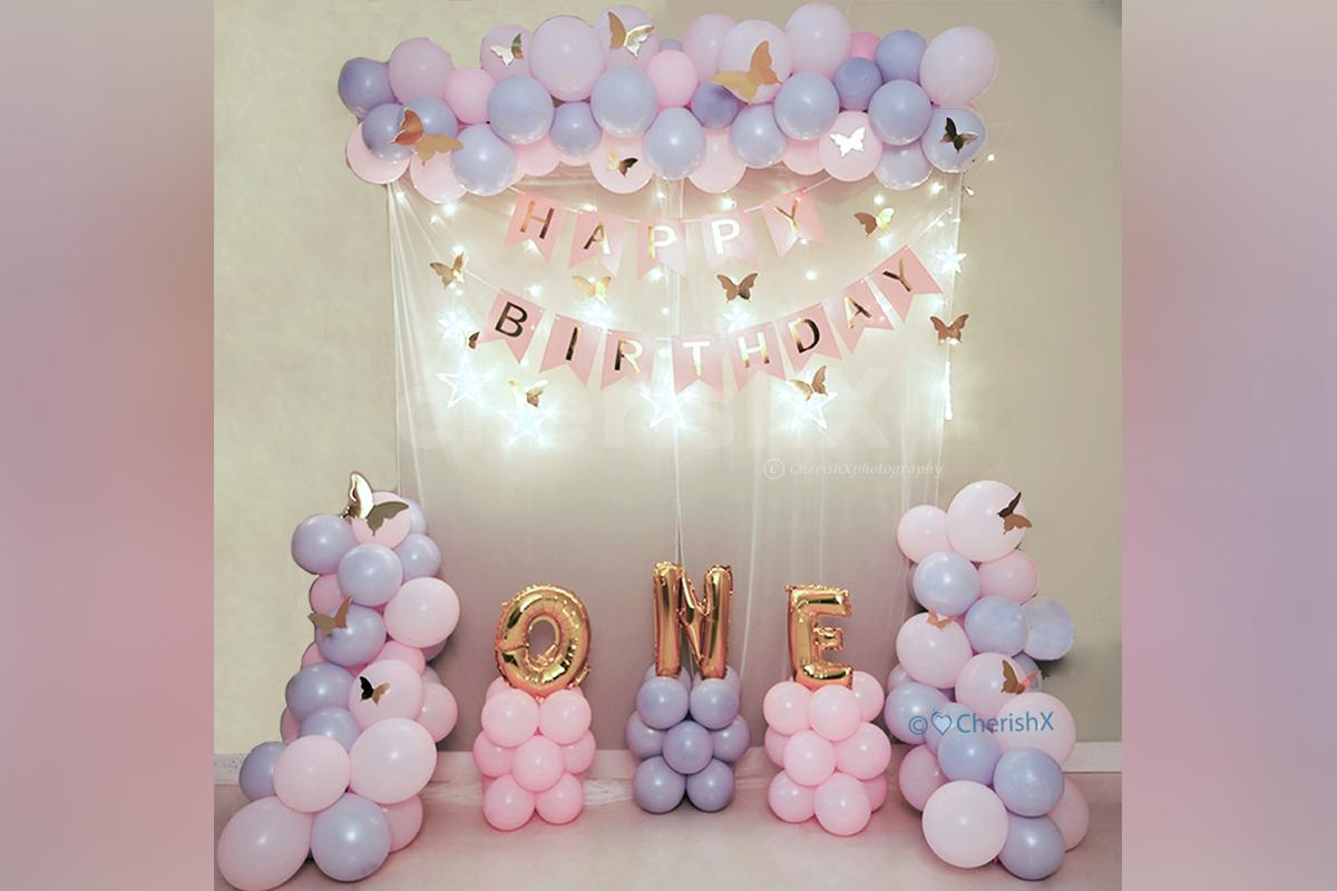 A Magical Butterfly Theme Decoration For Your Kids First Birthday