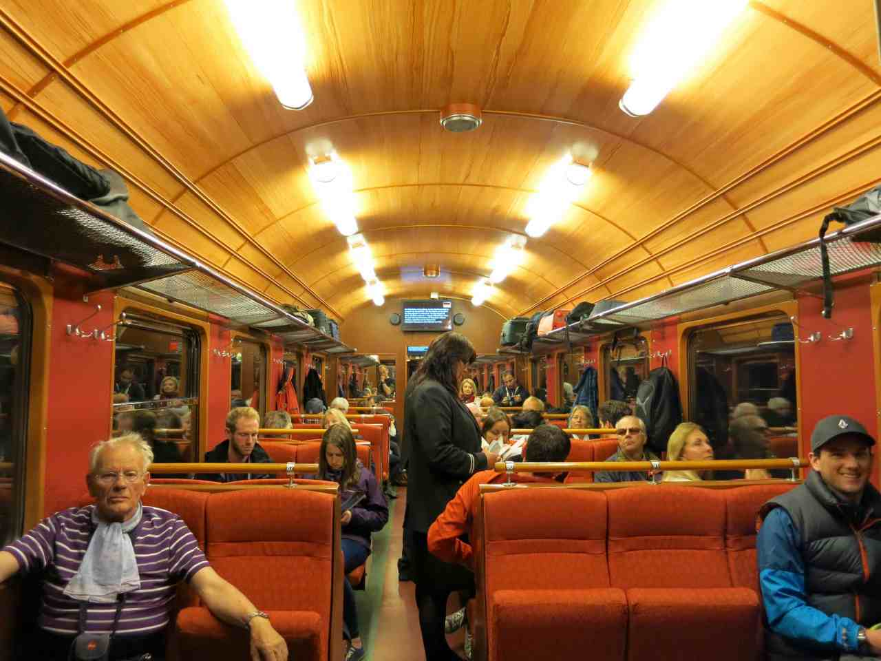 flamsbana interior train ride norway