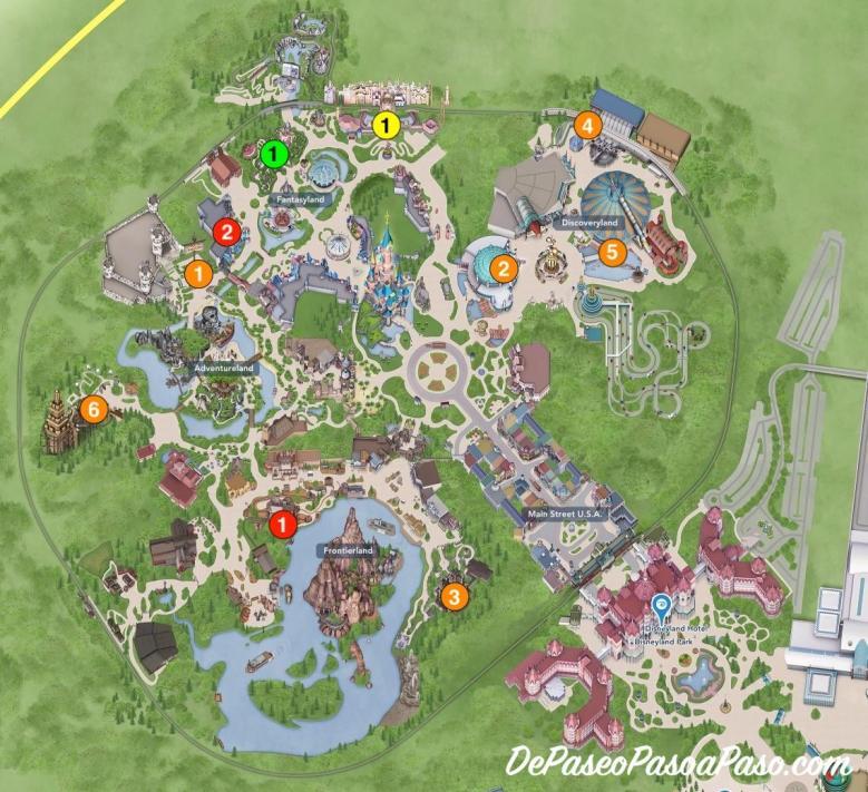 mapa Disneyland Park