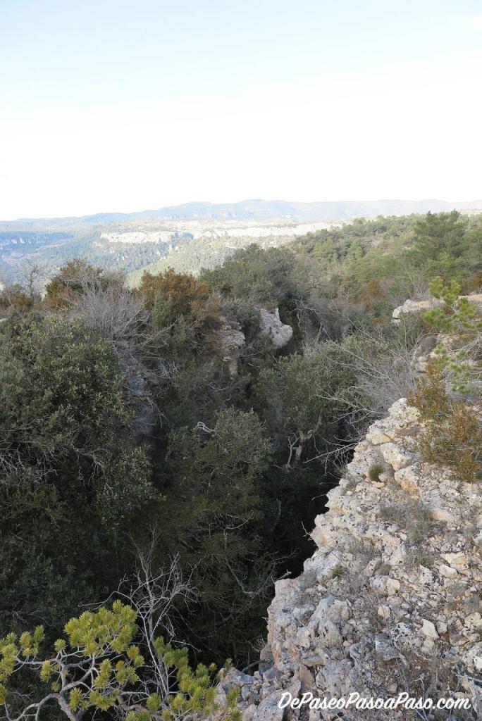 Vista de la grieta desde arriba