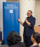Patricia Sowell Harris, global chief diversity officer for McDonald's, offers a presentation about diversity in the workplace. (DePaul University/Jamie Moncrief)