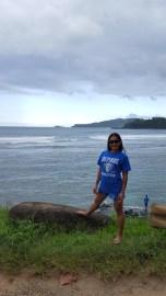 Miriam Manahan (MBA '08, BUS MS '09, MS '10) on the Napali Coast in Kauai, Hawaii.