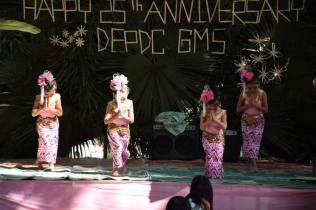 young daughters perform a dance