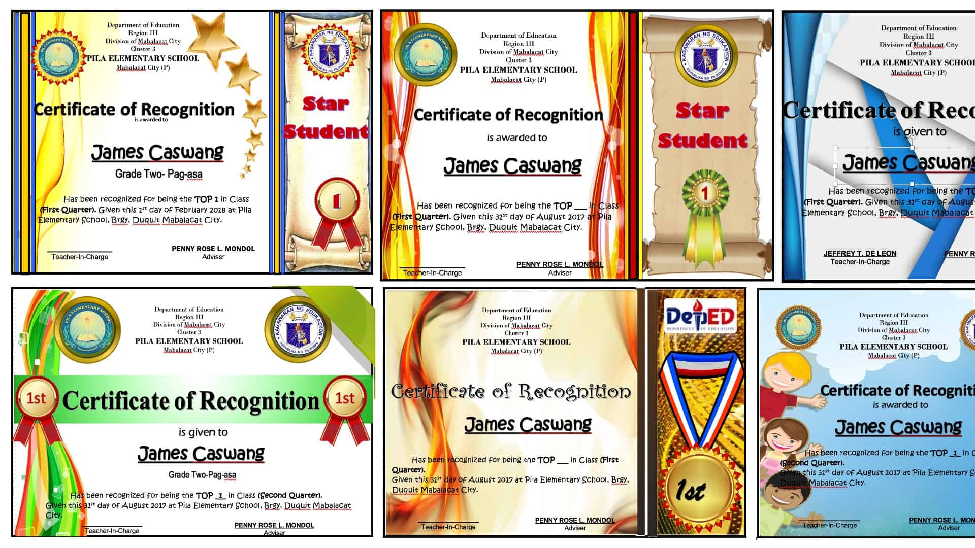 Award Certificates Editable And Ready For Printing
