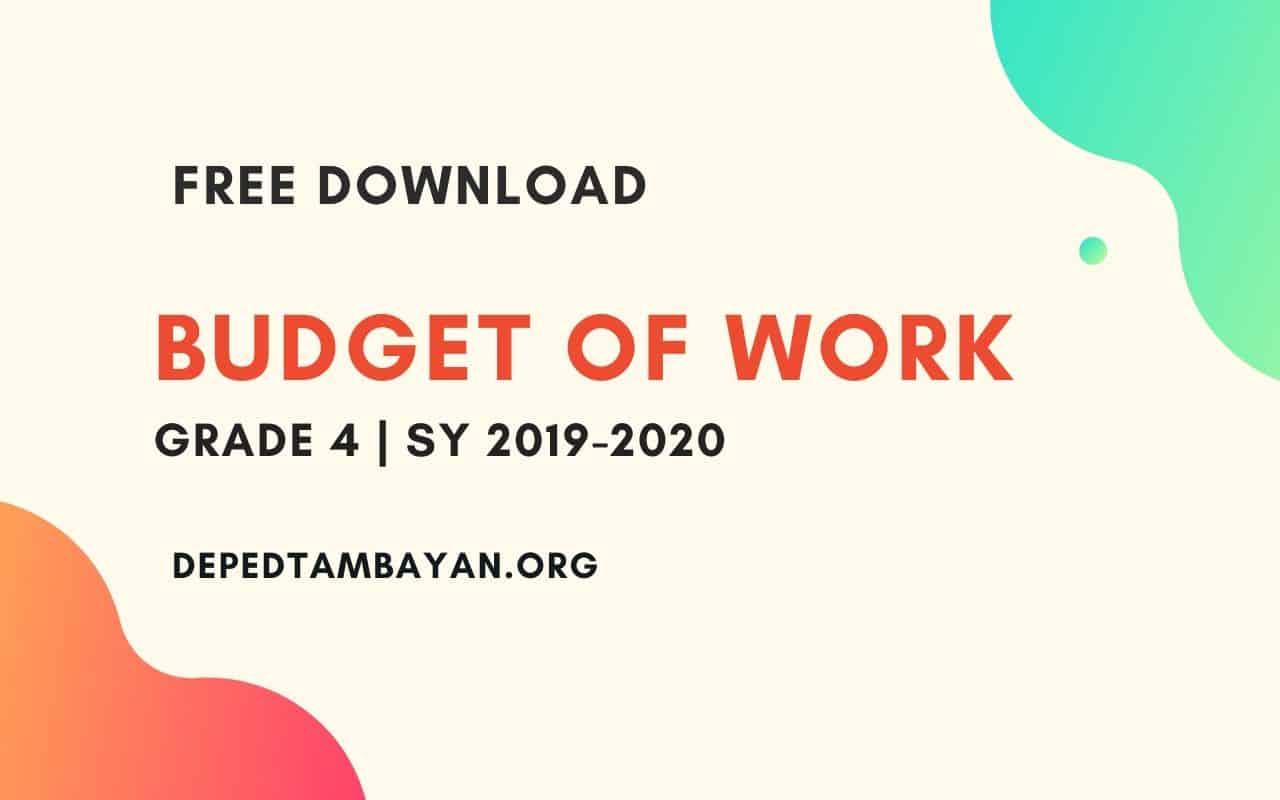 Grade 4 Budget Of Work