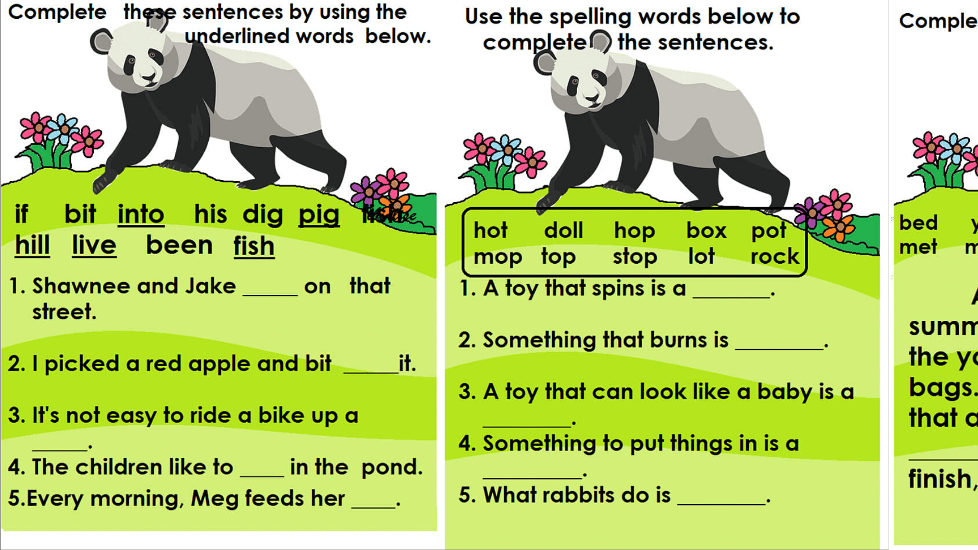 Reading Comprehension Worksheets For English