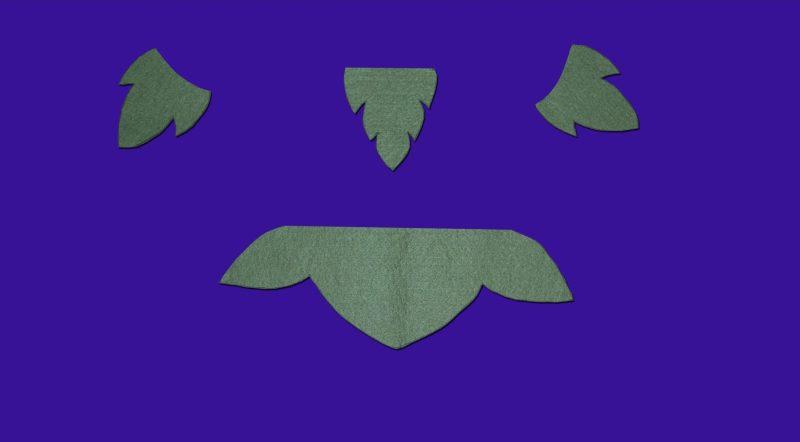 hojas recortadas