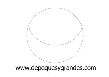 círculo para dibujar bolso