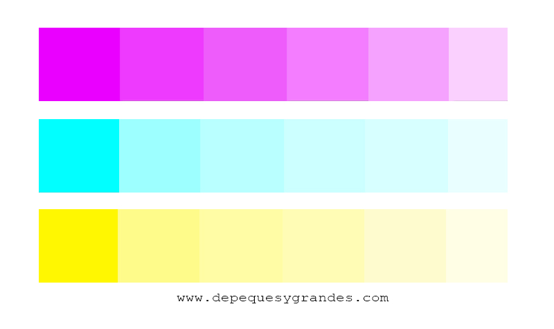 ejemplo de armonía con colores monocromos