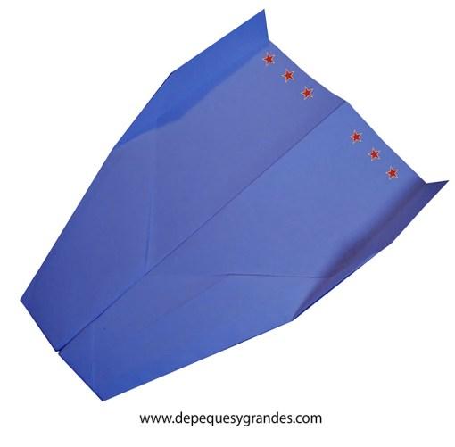 aviones de papel : avión veloz chato