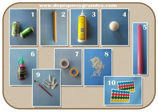 materiales para las maracas para niños