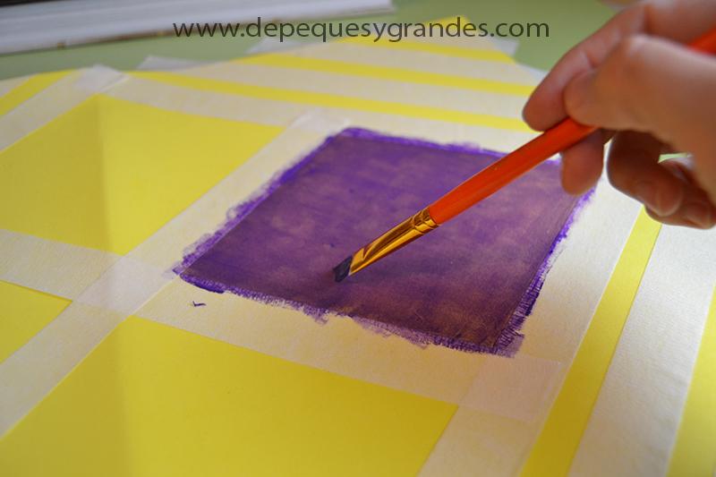 pintando con tempera