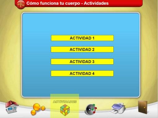 pantalla de actividades