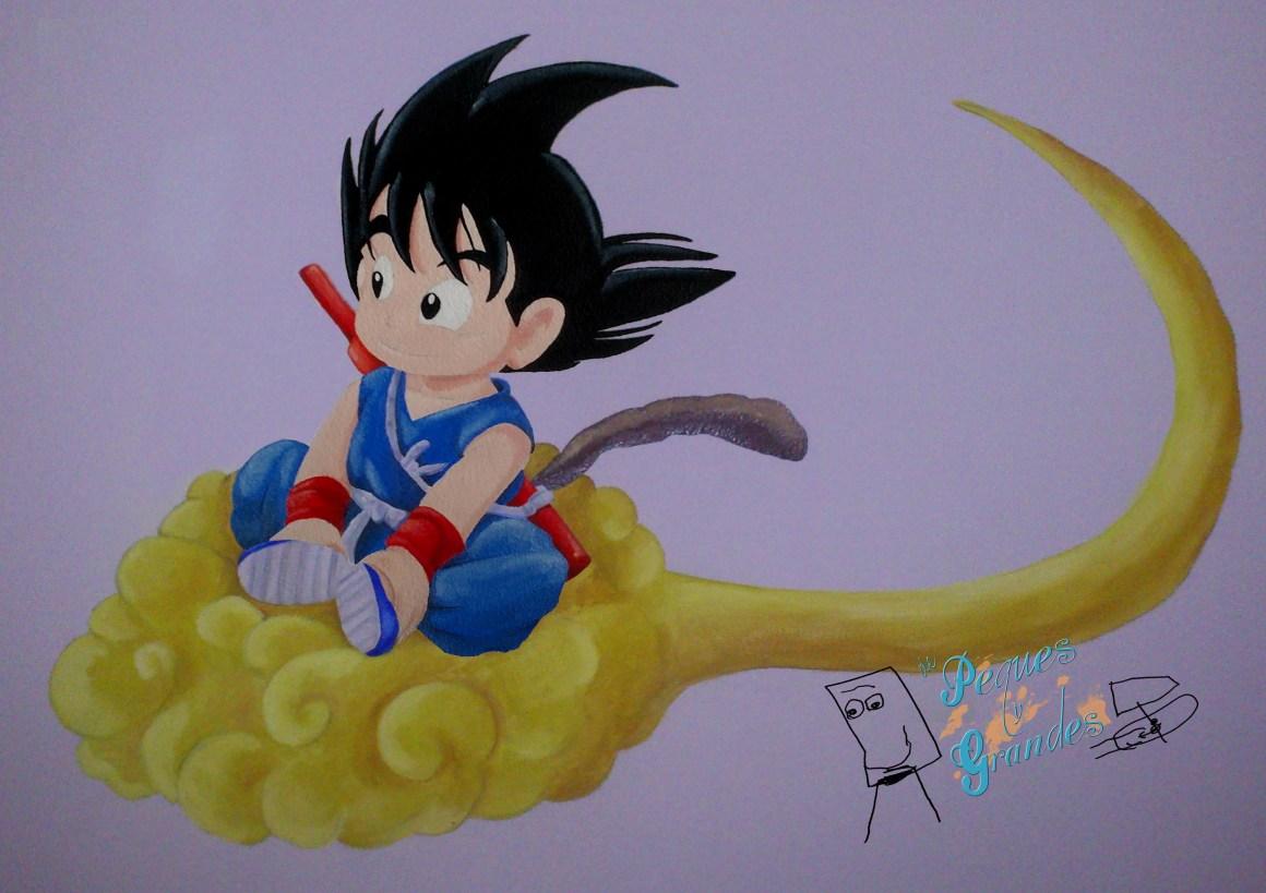 Goku pequeño en su nube finalizado