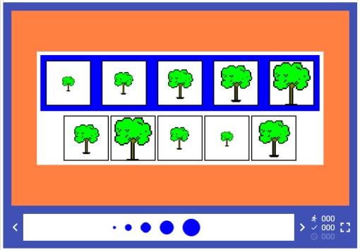 árboles con 5 medidas diferentes
