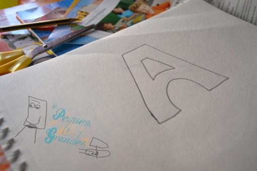álbum del abecedario letra A
