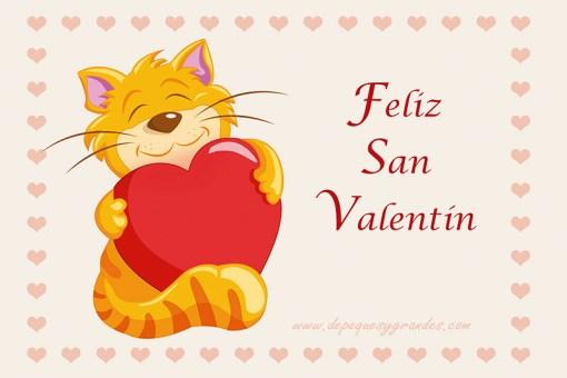 Tarjeta texto Feliz San Valentín