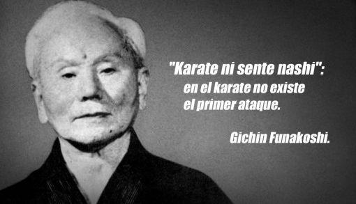 beneficios de practicar artes marciales imagen de Gichin Funakoshi