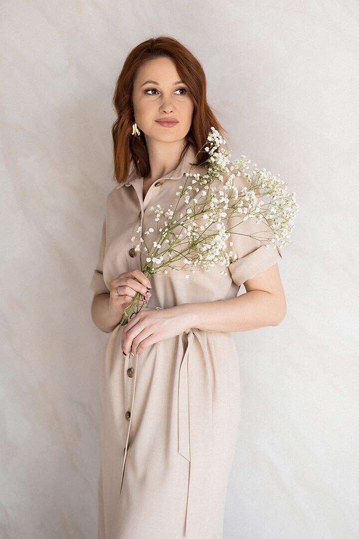 Платье рубашка DEplace