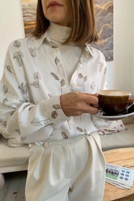 Рубашка белая с листочками Line2Line