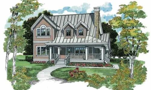 Casa con gran porch