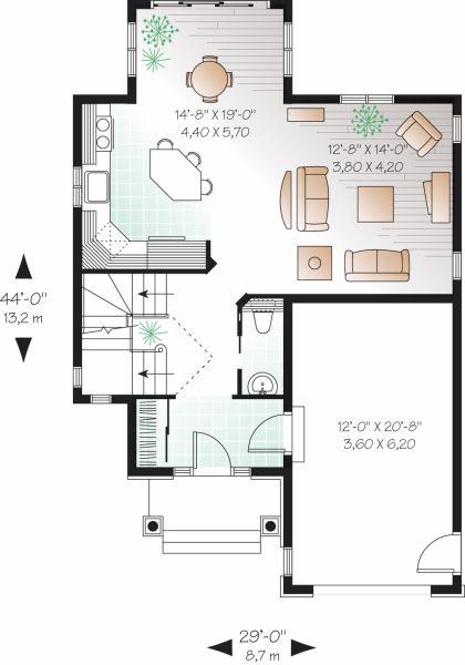 Casa de 2 pisos 3 habitaciones y 146 metros cuadrados for Piso 60 metros cuadrados 3 habitaciones