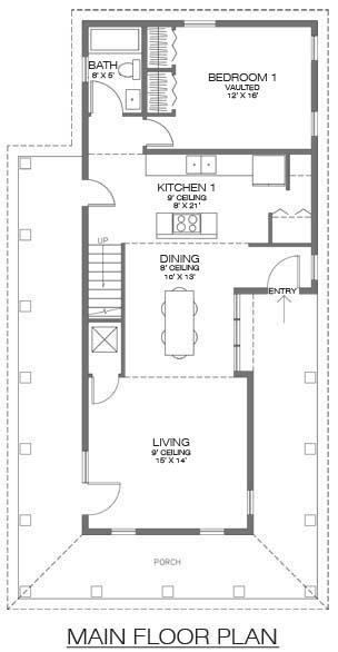 Casa de dos pisos tres habitaciones y 127 metros for Bano 2 metros cuadrados