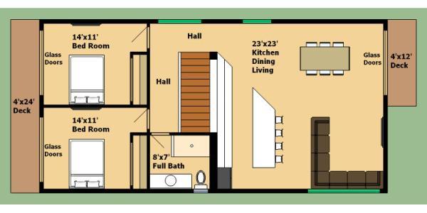Casa De 2 Pisos 4 Dormitorios Y 160 Metros Cuadrados