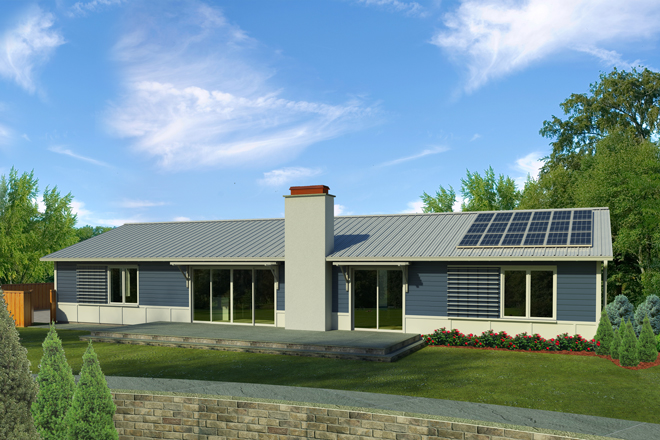 Casa ecologica de 3 dormitorios y 190 metros cuadrados