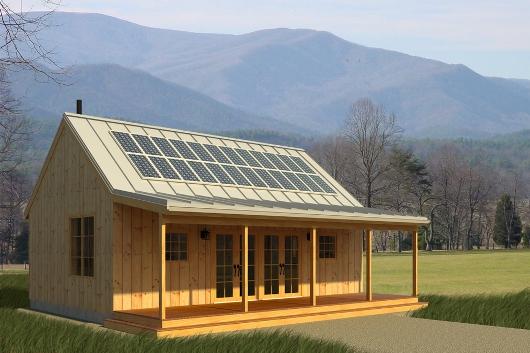 Casa ecologica de un dormitorio y 65 metros cuadrados