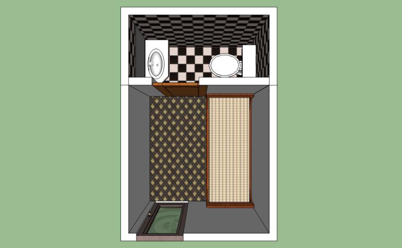 Mini pieza y baño