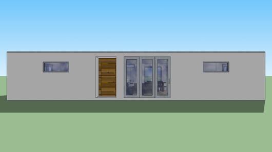 Casa moderna de dos dormitorios y 95 metros cuadrados