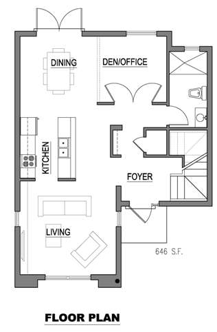Casa de 3 pisos 2 dormitorios y 150 metros cuadrados for Planos de oficinas con medidas