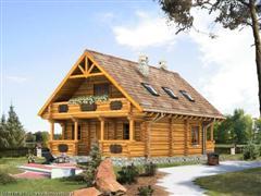 Cabaña de dos pisos, tres dormitorios y 90 metros cuadrados