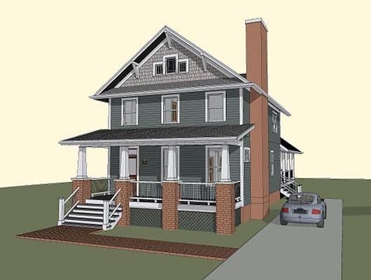 Casa de dos pisos, cuatro dormitorios y 201 metros cuadrados