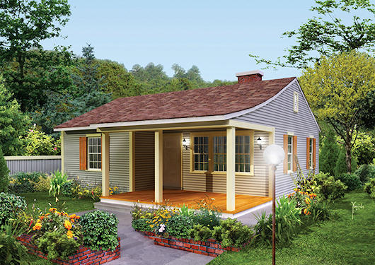 Pequeña casa de dos dormitorios y 68 metros cuadrados