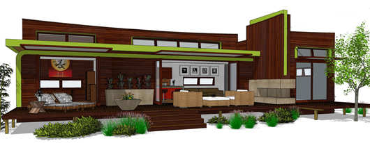 Moderna casa de dos dormitorios y 80 metros cuadrados