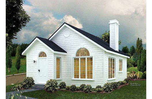 Pequeña casa de un dormitorio y 49 metros cuadrados
